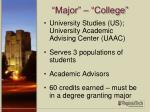 major college