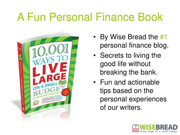 A fun personal finance book