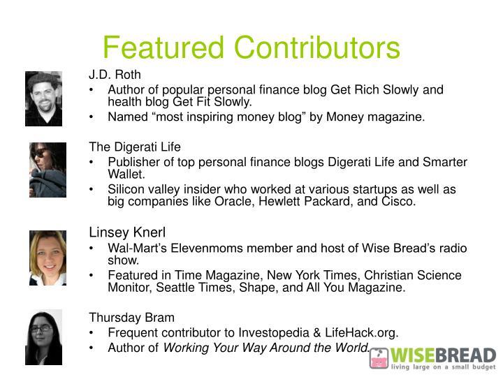 Featured Contributors
