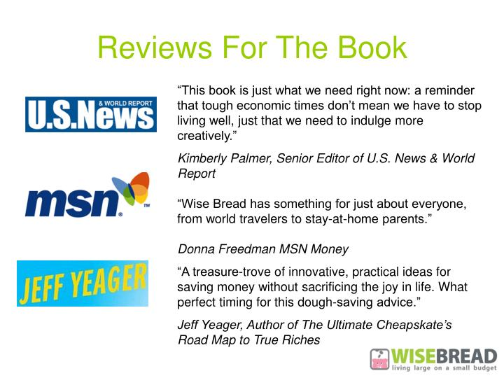Reviews for the book
