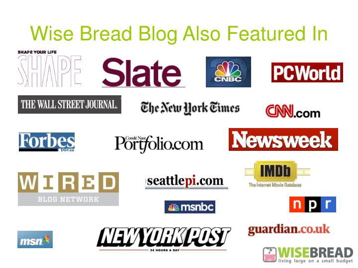 Wise Bread Blog Also Featured In