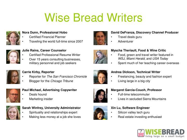Wise Bread Writers