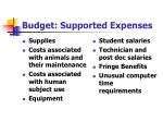 budget supported expenses