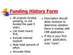 funding history form