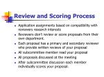review and scoring process