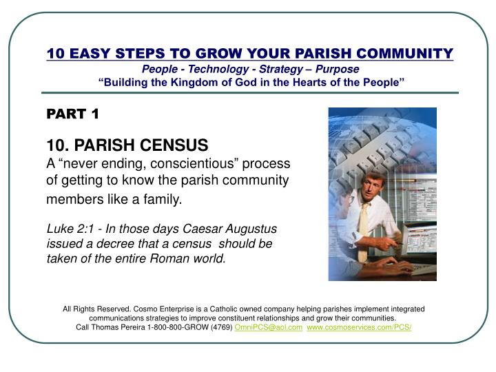 10 EASY STEPS TO GROW YOUR PARISH COMMUNITY