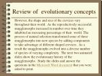review of evolutionary concepts22