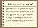 striving toward perfection