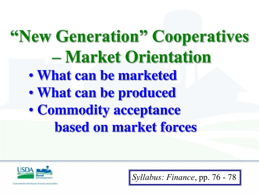 """New Generation"" Cooperatives"