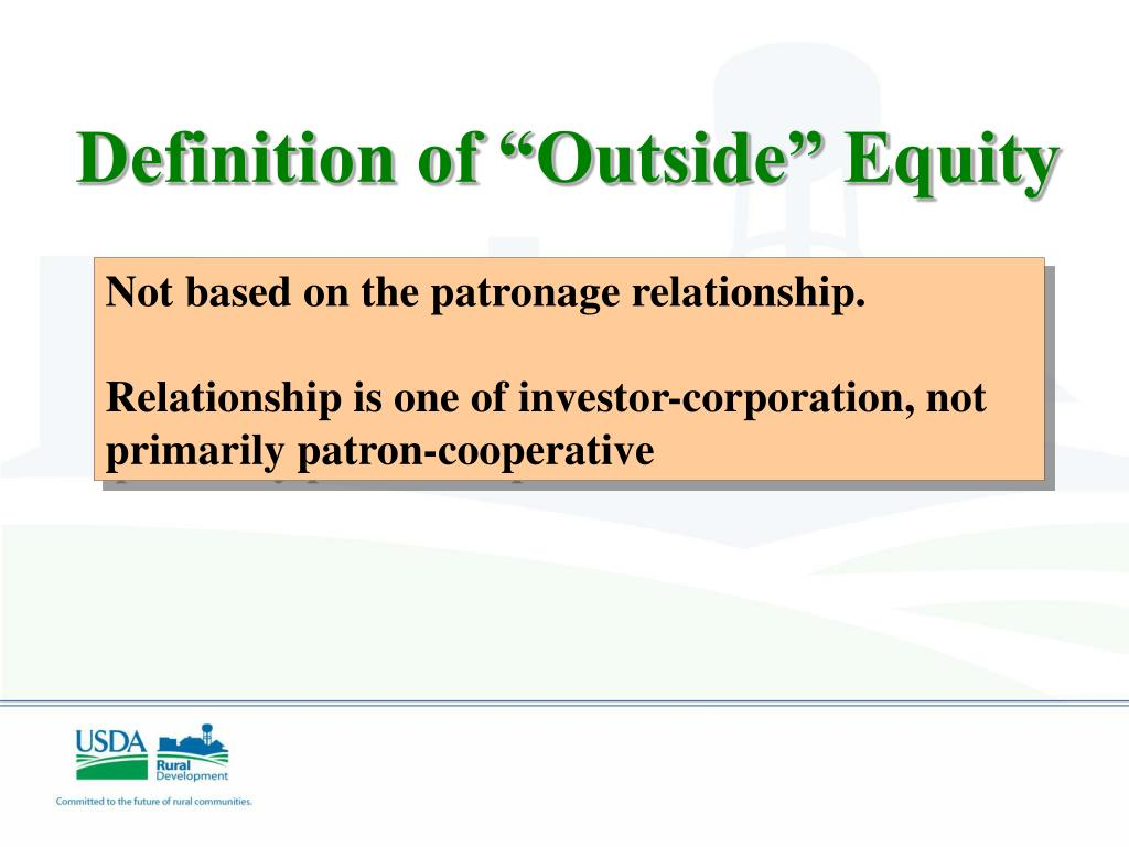 "Definition of ""Outside"" Equity"