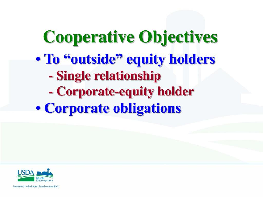 Cooperative Objectives