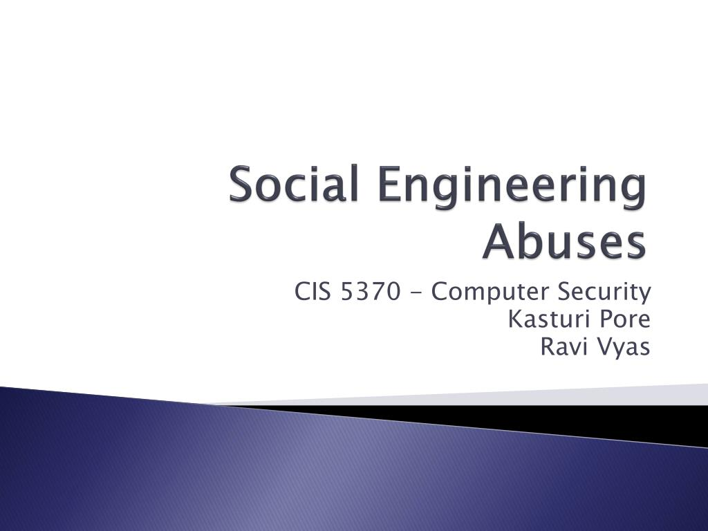 social engineering abuses l.