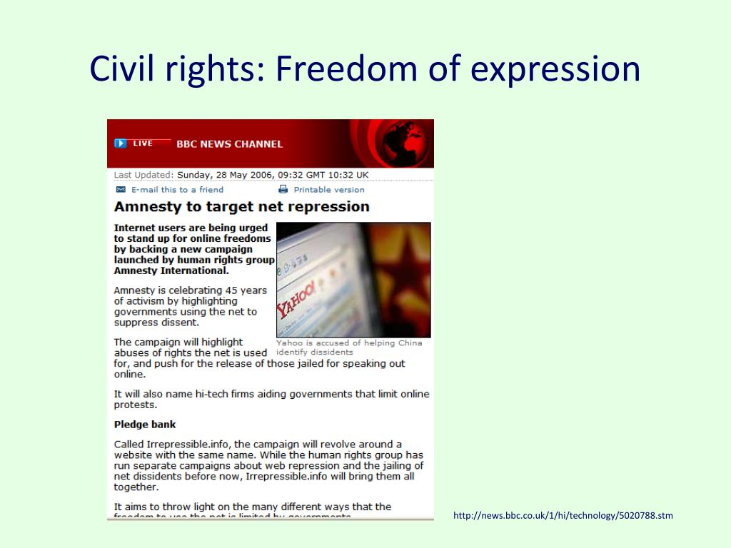 Civil rights: Freedom of expression
