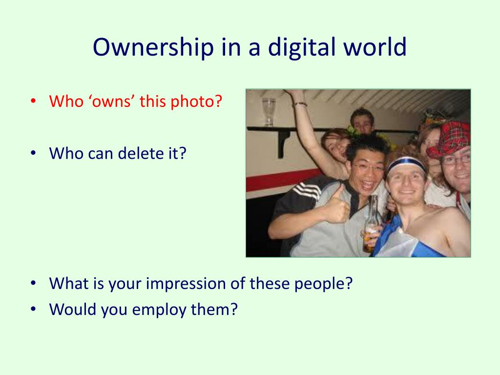 Ownership in a digital world
