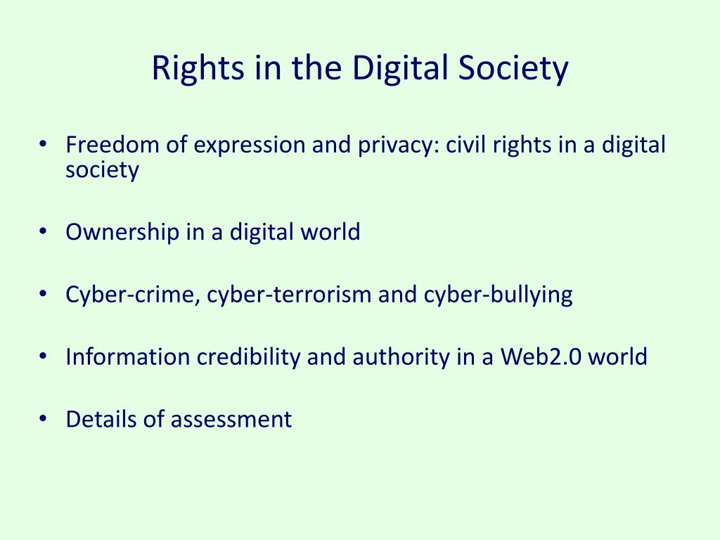 Rights in the Digital Society