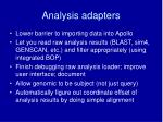 analysis adapters