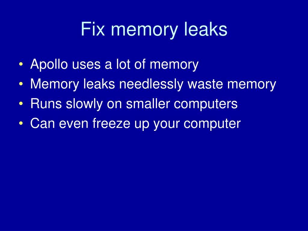 Fix memory leaks