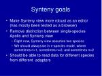 synteny goals