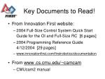 key documents to read