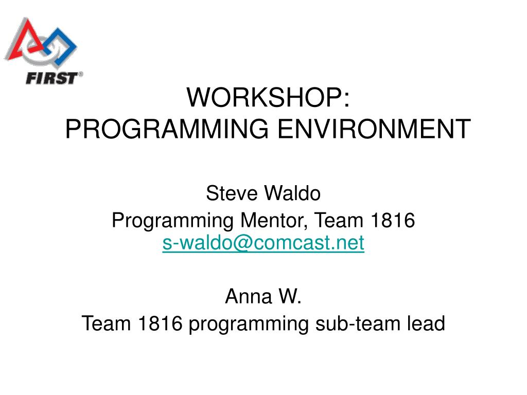 workshop programming environment l.