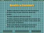 benefits to customers