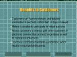 benefits to customers29