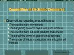 competition in electronic commerce37