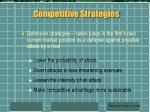 competitive strategies62