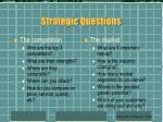 strategic questions60