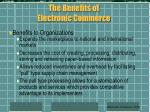 the benefits of electronic commerce