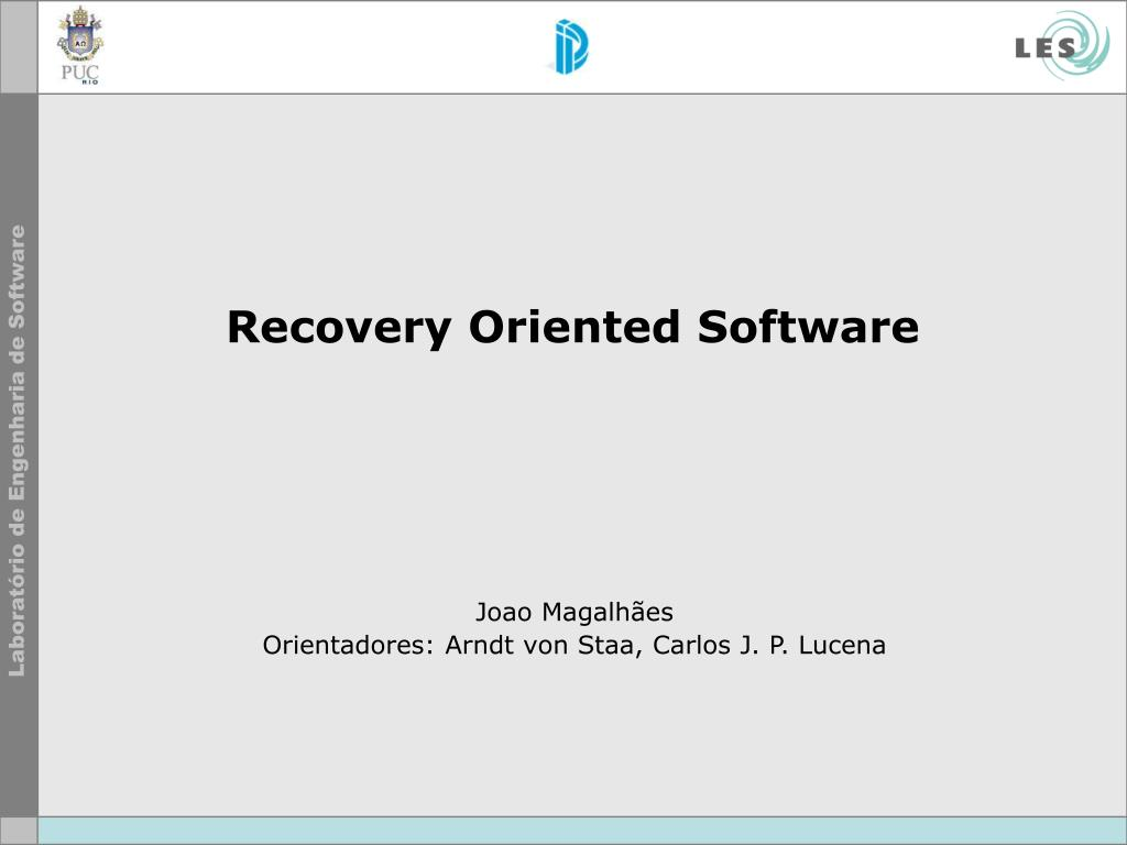 recovery oriented software l.