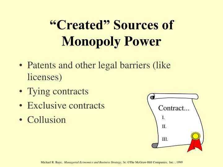 sources of monopoly power
