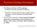 business strategy archetypes