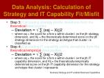 data analysis calculation of strategy and it capability fit misfit