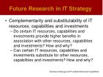 future research in it strategy