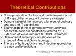 theoretical contributions