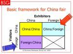 basic framework for china fair