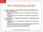 key emerging trends