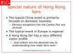 special nature of hong kong fairs