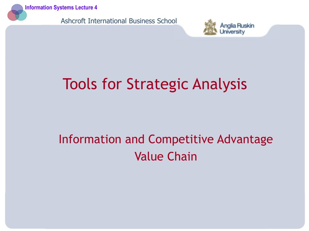 tools for strategic analysis l.