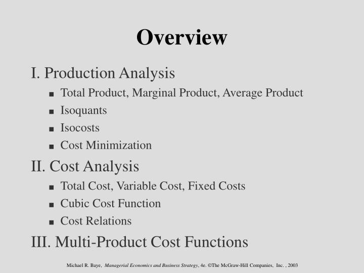 production analysis in managerial economics