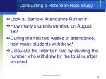 conducting a retention rate study