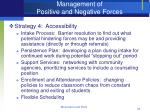 management of positive and negative forces35