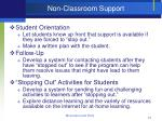 non classroom support