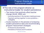 program director as instructional leader