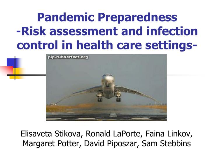 pandemic preparedness risk assessment and infection control in health care settings n.