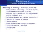 management of positive and negative forces37