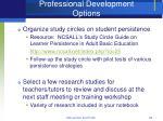 professional development options
