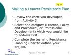 making a learner persistence plan