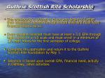 guthrie scottish rite scholarship